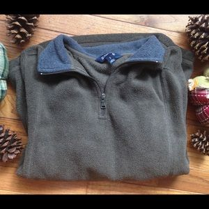 St. John's Bay Brown Pullover with Zipper